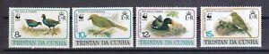 Trempé Tristan Da Cunha 1991 Postfrisch Minr. 513-516 Vögel Wwf
