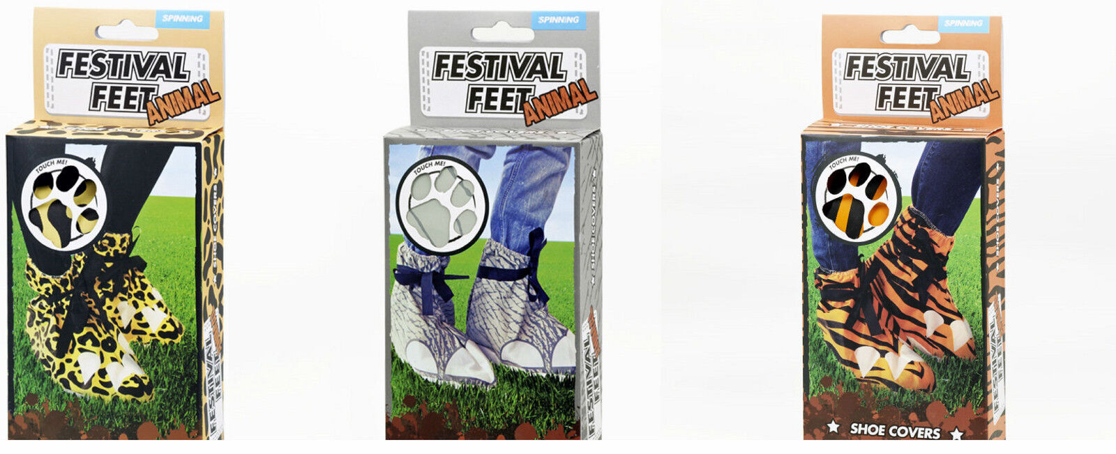 Festival Feet Animal Print Garden Party Disposable Shoes Covers and Protection