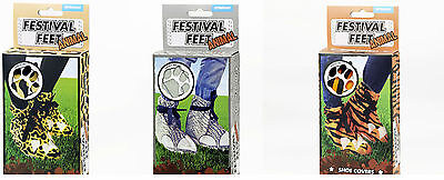 Festival Pies Animal Print Garden Party Desechables Zapatos cubre y protección