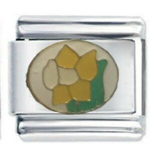 Image is loading Daffodil-Flower-Daisy-Charm-Fits-Genuine-Nomination -Classic- c523598a0