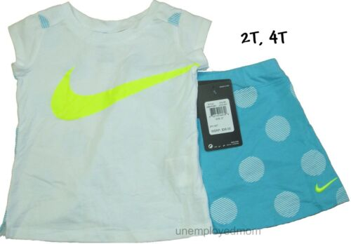 Nike Tee Shorts Set 2 piece Girls Outfit Athletic Sports Shirt Top Bottom summer