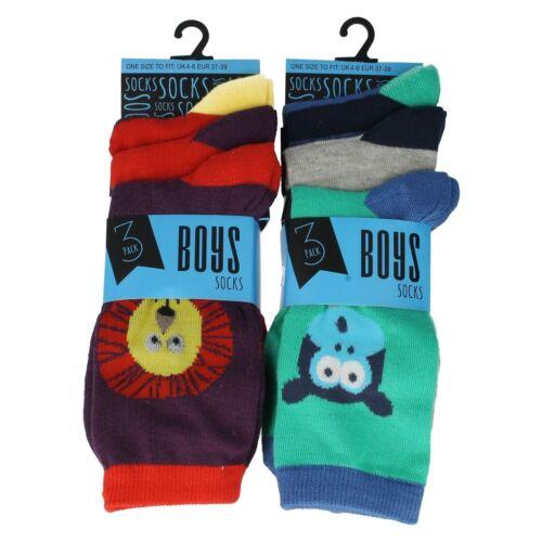 SK308 RJM Boys Monkey//Lion Socks
