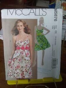 Oop-Mccalls-5876-summer-sundress-full-skirt-gathered-bodice-sz-14-20-NEW