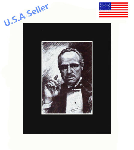God Father portrait 8x10 matted Art Print Poster Decor picture Gift Photograph
