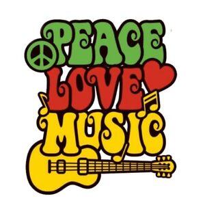 2x-Peace-Love-Music-Aufkleber-Sticker-Liebe-Frieden-Musik-Gitarre-Hippie-Rock