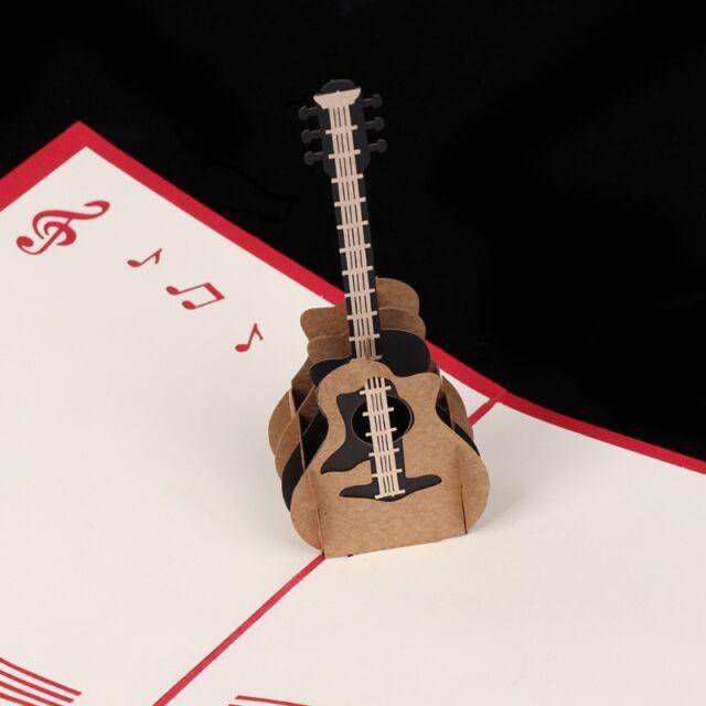 3d retro guitar pop up greeting card birthday wedding baby shower 3d retro guitar pop up greeting card birthday wedding baby shower valentine m4hsunfo