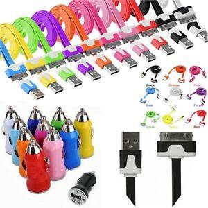 CHARGEUR-CABLE-USB-COULEUR-iPhone-4-4S-iPad-iPod-et-ou-ADAPTATEUR-ALLUME-CIGARE