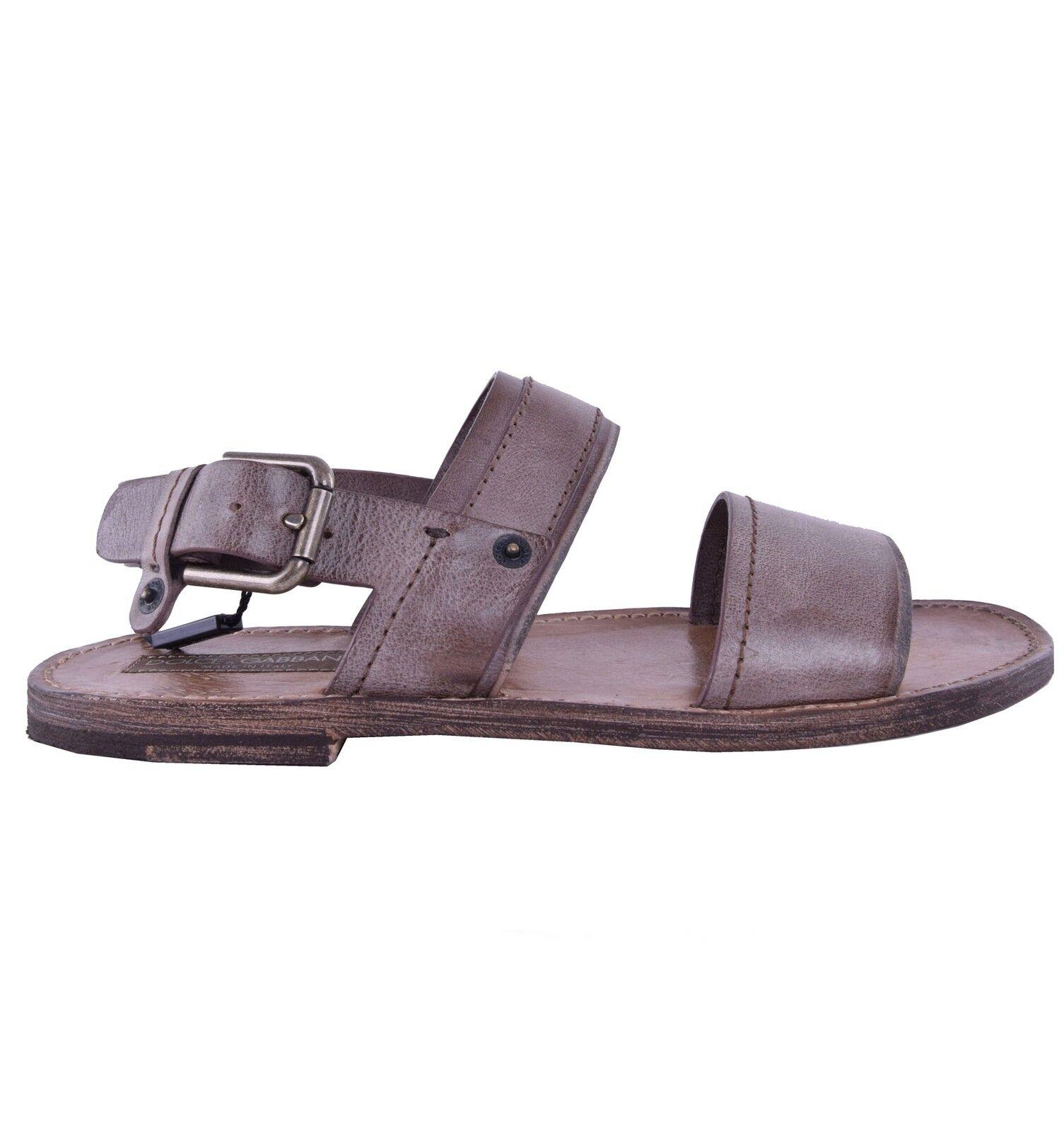 DOLCE & GABBANA Leder Riemen-Sandaleen Schuhe Braun Sandales Braun 04599