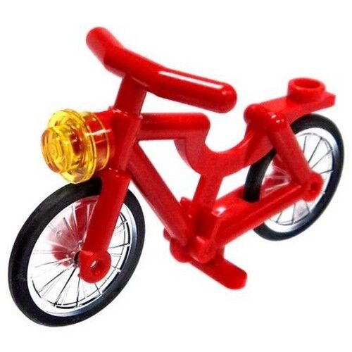 LEGO City Red Bicycle Bike Minifigure Accesory Train Station Scenery 60197 60198