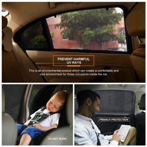 1 Pair Universal Car Sun Mesh Blind Rear Window Sun Shade Sunshine Blocker