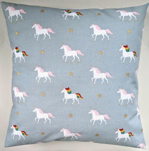 "Cushion Cover in Sophie Allport Rainbow Unicorn Stars 14/"" 16/"" 18/"" 20/"" 22/"" 24/"""