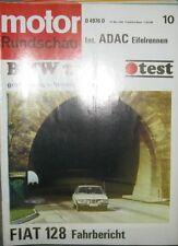 * Motor-Rundschau 10 / 1969 -  BMW 2500 E3 - Fiat 128  *