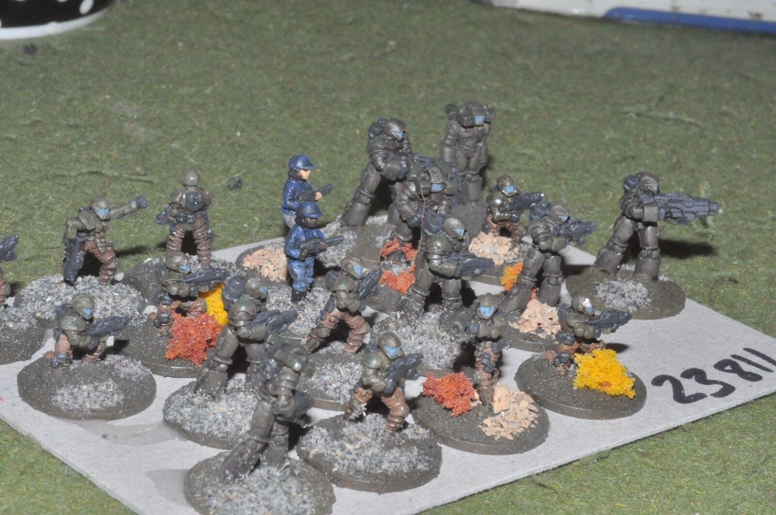 15mm scifi   human - marines 20 figures - inf (23811)