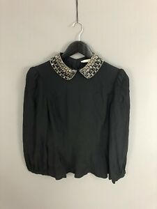 KAREN-MILLEN-Top-Size-UK10-Black-Great-Condition-Women-s