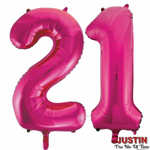 Pink 21st Birthday Party Decorations Supplies Girls Ladies Balloons Banners etc