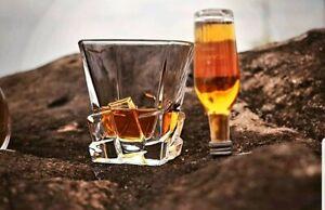 MALVINER WALDO Luxury Whiskey Glasses set of 2 Old Fashioned Vintage Rocks