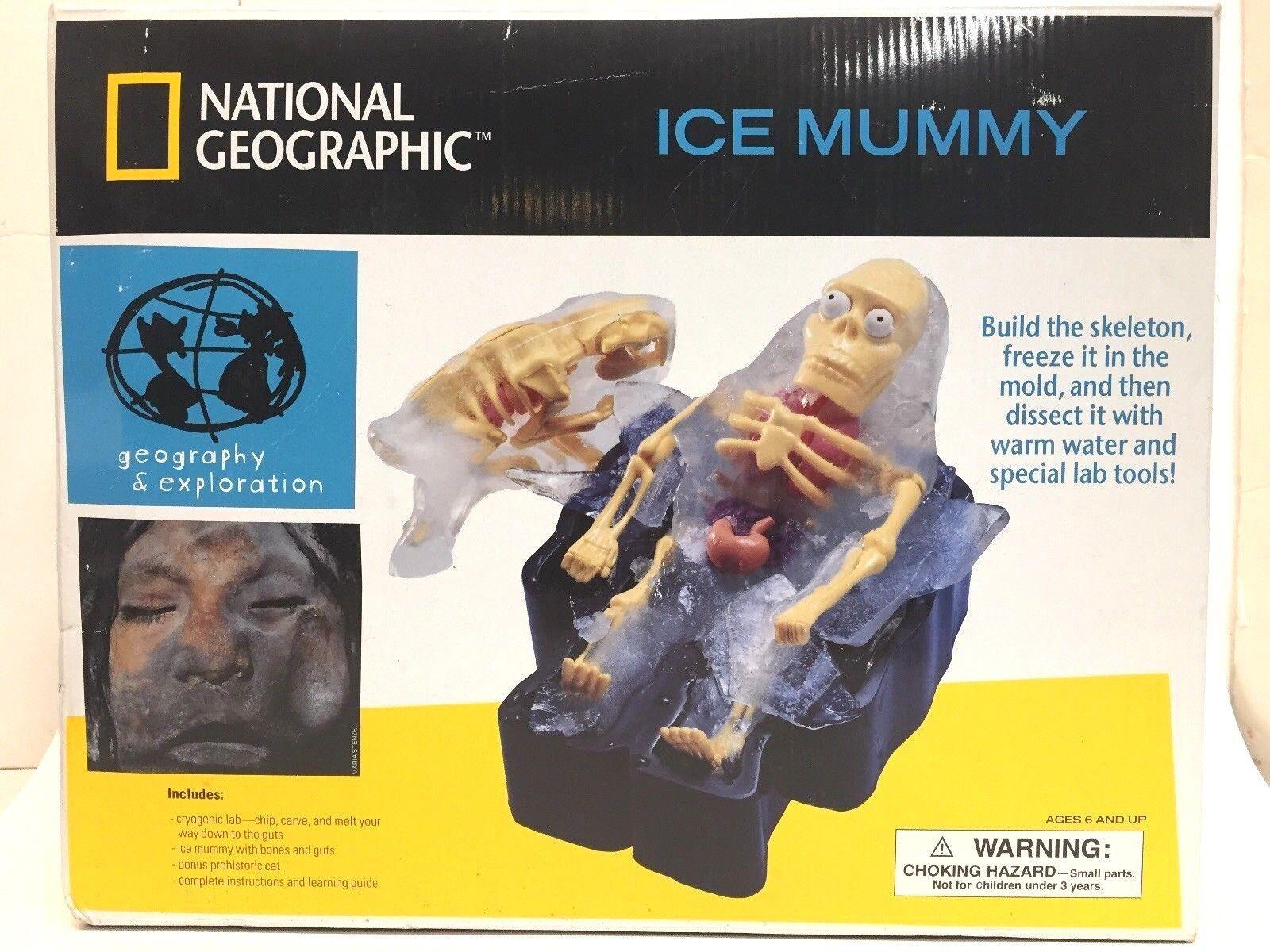 NEW National Geographic 2002 Ice Mummy Cryogenic Lab Kit Ages 6+  Sealed Box