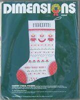 Vintage Dimensions Christmas Stocking Crewel Kit 1984 Candlewicking 8048