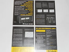 McIntosh MC2205 Amplifier Brochure 4 pages, Specs, Info, Articles