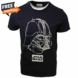Star Wars Mens Darth Vader Sketch Black S/S T-Shirt