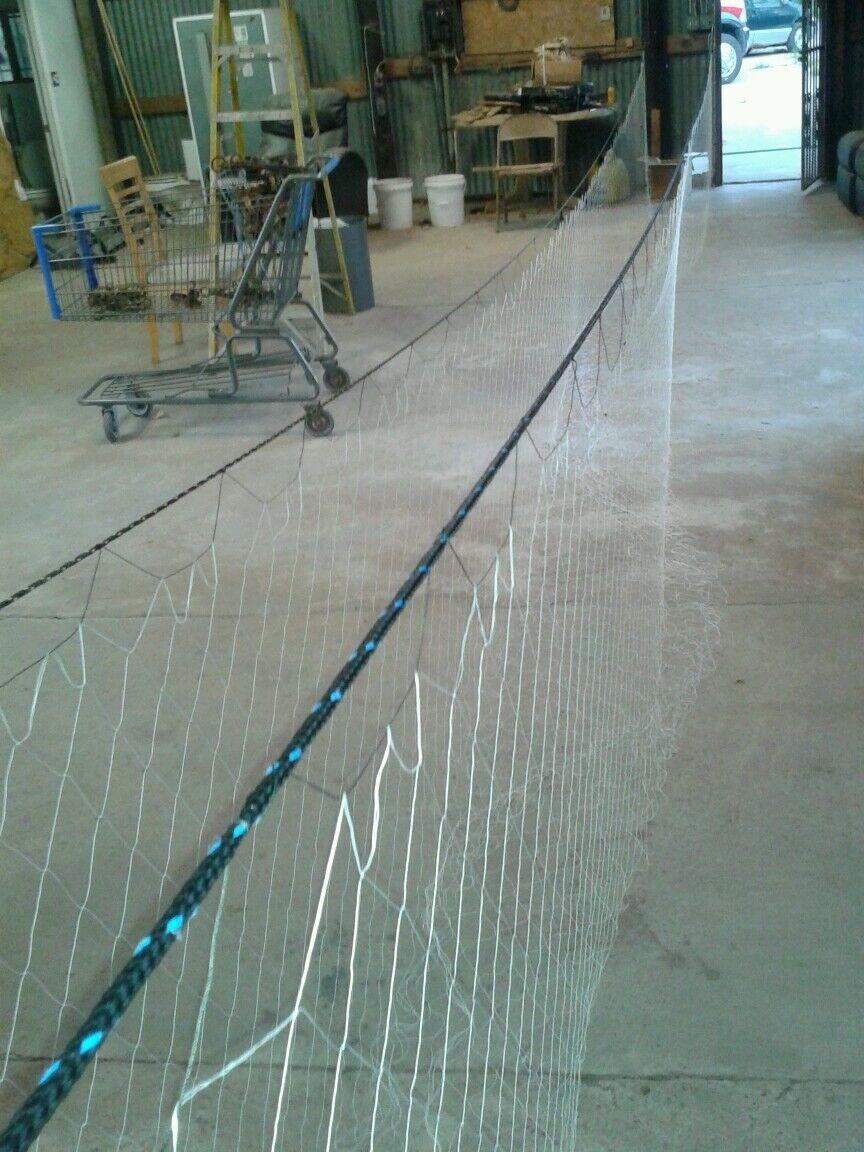 32' X 6' X 2  Float & lead core rope SHTF  Survival Prepper Gill Net Fish Trap