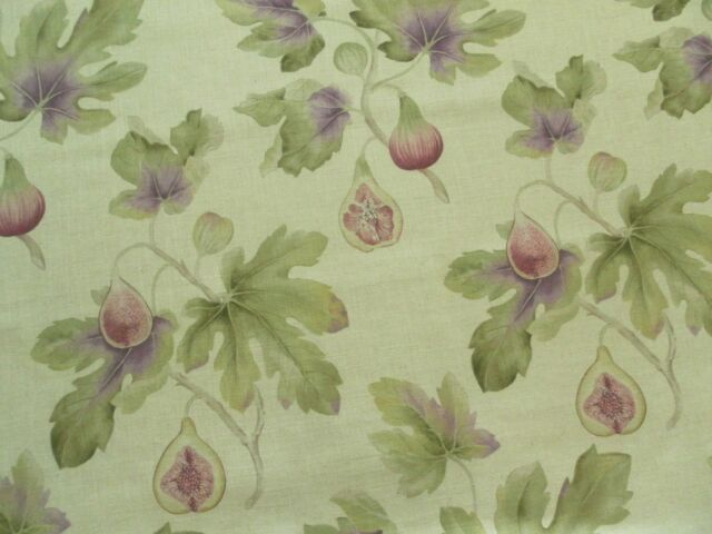 SANDERSON CURTAIN tissu Fig Harvest 2.0 M Fig/Forest-Art du jardin 200 cm