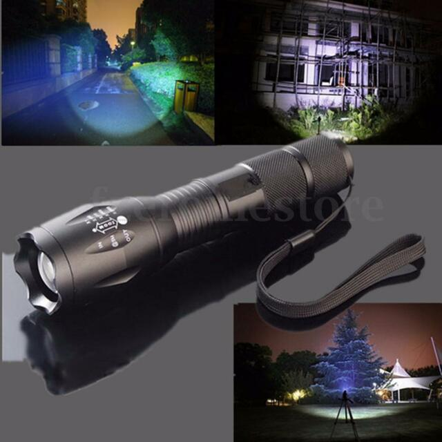 Elfeland 5000Lm T6 LED 18650/AAA Flashlight Torch Lamp G700 Zoomable Adjustable