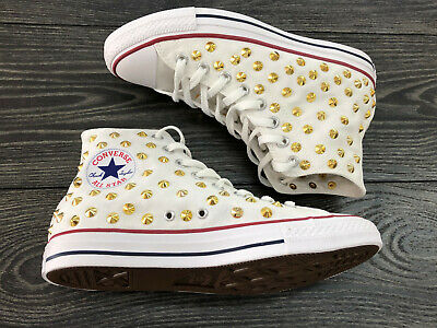 Converse All Star Chuck Taylor Chaussures Toile Homme Femme Hautes Cloutés Or | eBay