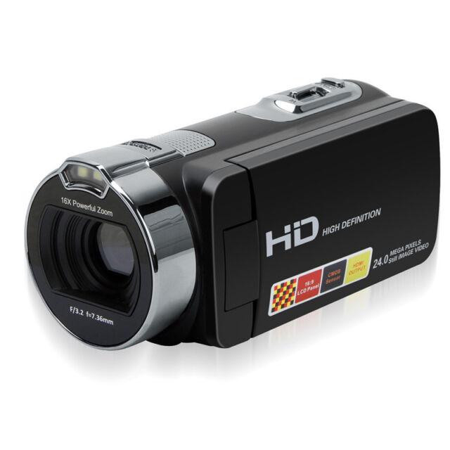 "1080P 2.7"" LCD Digital Video Camera DV Camcorder Anti-shaking Recorder 16x Cam"