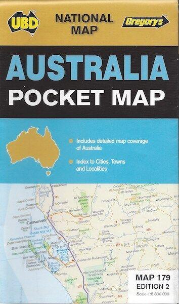 UBD Gregory's Australia Pocket Map *FREE SHIPPING - NEW*