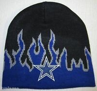 Dallas Cowboys Fire Beanie Skull Cap Hat Classic Nfl Patch/logo
