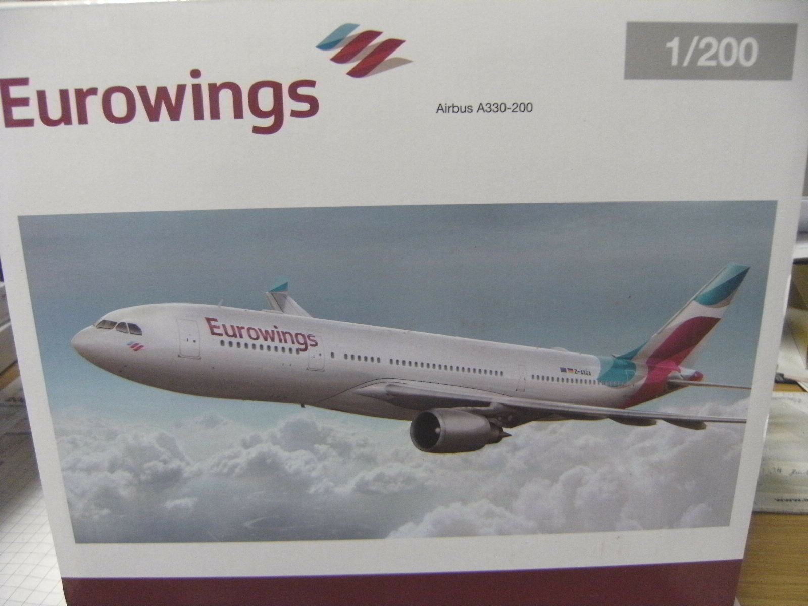 Herpa 1 200 557399 Eurowings Airbus a330-200 NUOVO OVP