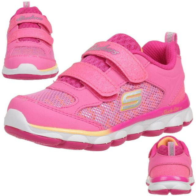 Skechers Girls Lil' Jumpers Breathable Mesh Padded Lined
