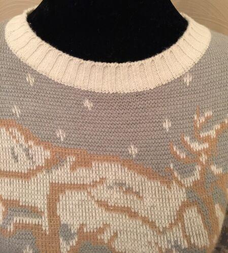 Vintage Ted Maglione Paris Grigio Winter Scene Taglia Pullover Womens Lapidus Medio qwUSgA