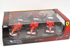 Hot-Wheels-1-43-Coffret-3-F1-Ferrari-2002-2002-F2000-F2001-F2002