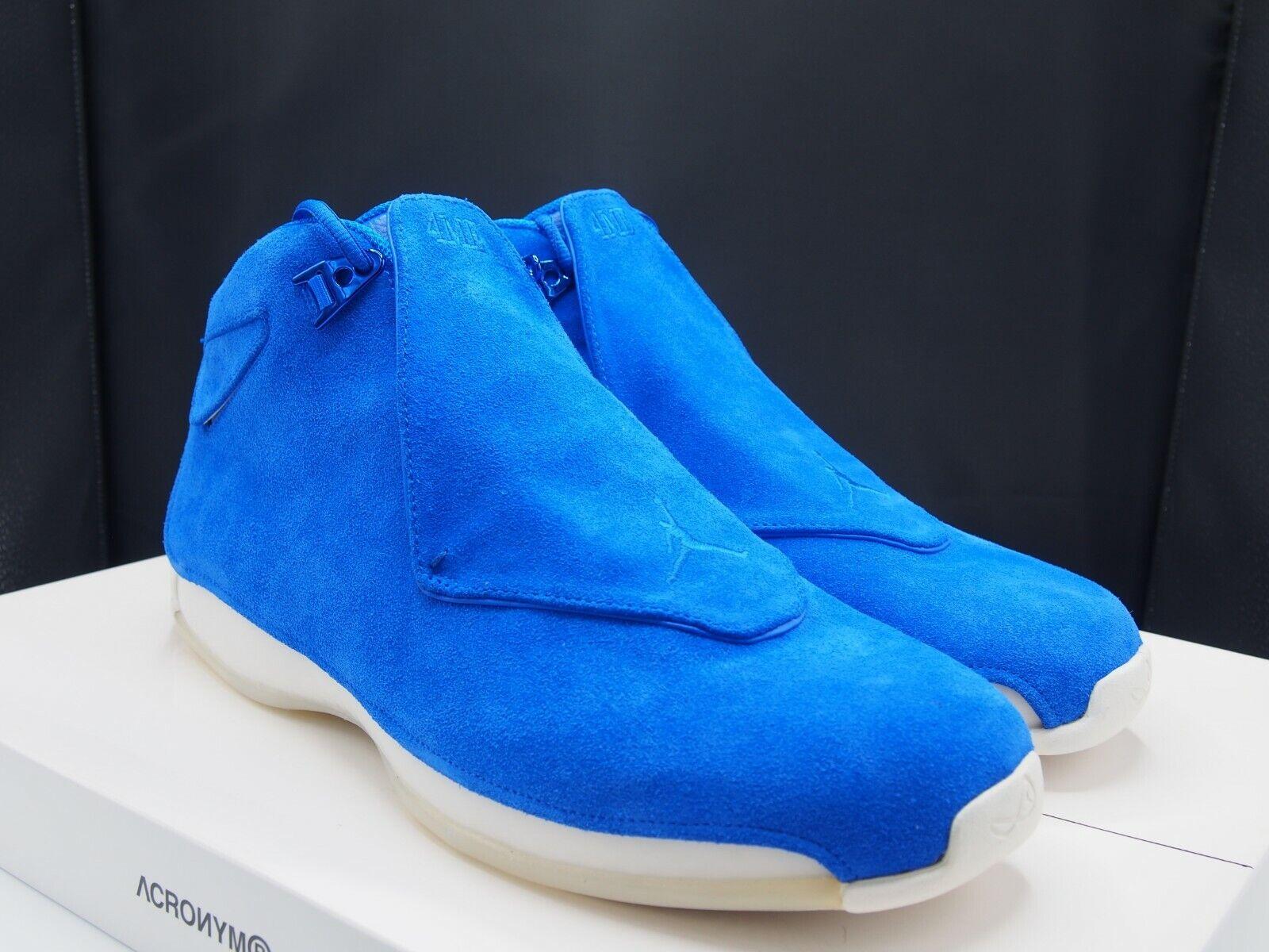 275ce770e6cc Nike Air Jordan 18 Retro Racer bluee AA2494-401 Men s size size size 14 US