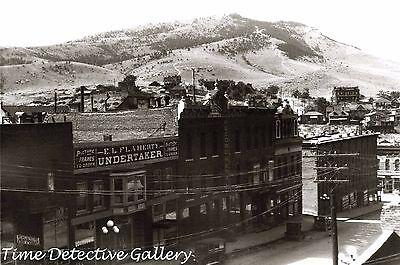 Businesses on Broadway, Helena, Montana - 1925 - Historic Photo Print