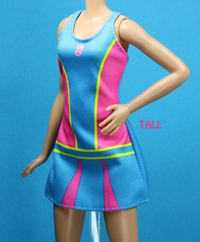Barbie Fashionistas I Can Be a Tennis Player Sport Dress fits CURVY TALL REGULAR