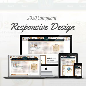Ebay Listing Template Mobile Responsive Web Design Jewelry Auction Template Html Ebay