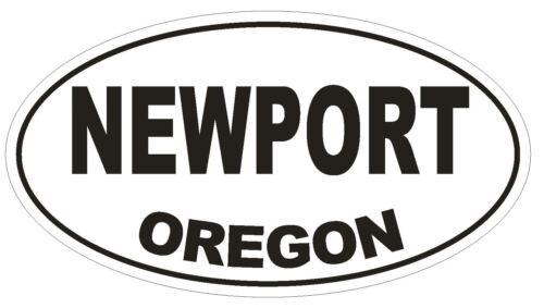 Newport Oregon Oval Bumper Sticker or Helmet Sticker D2760 Euro Oval