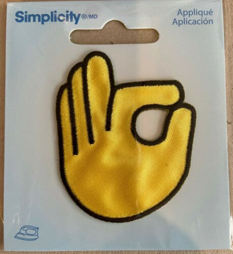 Okay sign fingers56mm x46mmIron On EmbroideredApplique Patch Badge