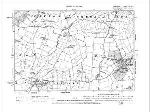 Lullington Old Map Derbyshire 1901: 62-NE S Coton in the Elms