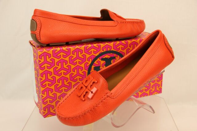 f991a7b8ae166 NIB TORY BURCH LOWELL 2 DRIVER SAMBA TUMBLED LEATHER REVA FLATS MOCCASINS  8.5