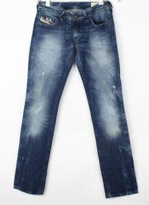 DIESEL Women Lowky Straight Leg Jeans Size W26 L32