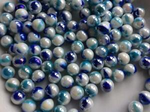 50 Shark Glass Peewee Marbles 10mm Traditional Toy Game Marble Run Party Bags Ebay