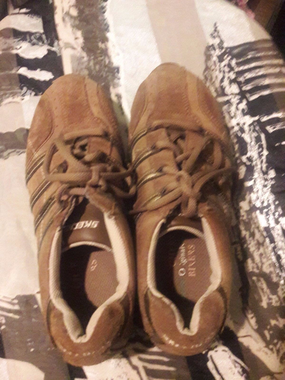 SKECHERS BROWN SUEDE ATHLETIC SHOES SIZE 6M Casual wild