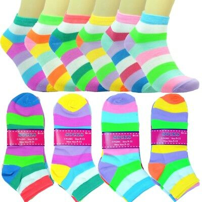 12 Pairs Women Fashion Cotton School Casual Ankle Low Cut Socks Size 9-11 navy