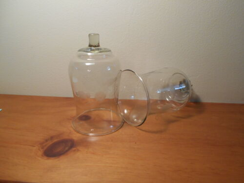 Clear Etched Roses Votive Cups Lot of 2 Vintage Home Interiors