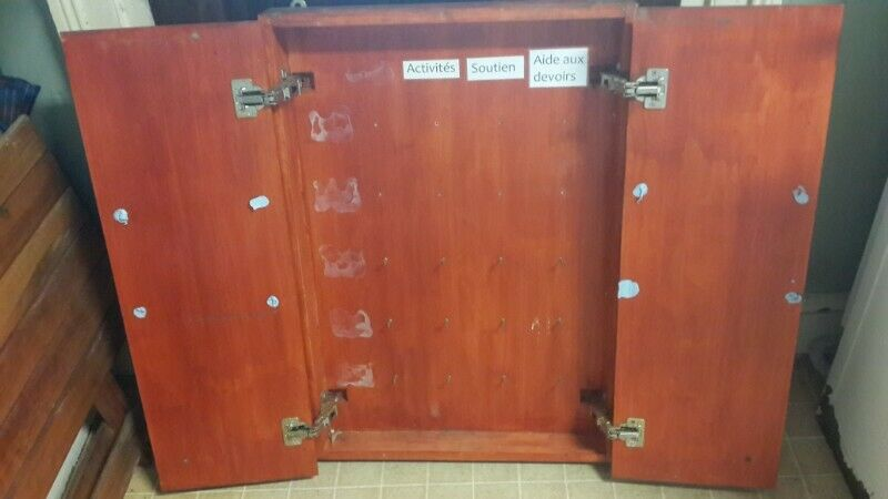 Wooden Wall Cupboard Suitable As Tool Storage Large Key Cabinet