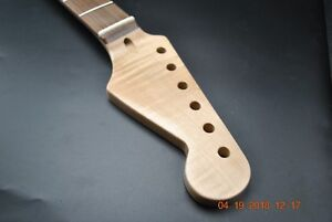 New-Flame-Maple-Guitar-Neck-Clear-Tint-Fits-Stratocaster-22-Fret-Rosewood